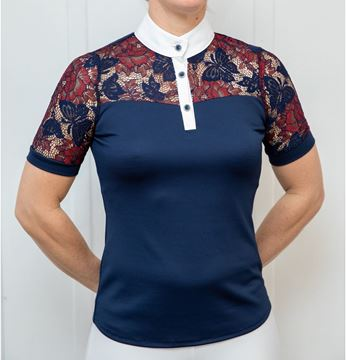 Picture of Coloured lace Yoke shirt